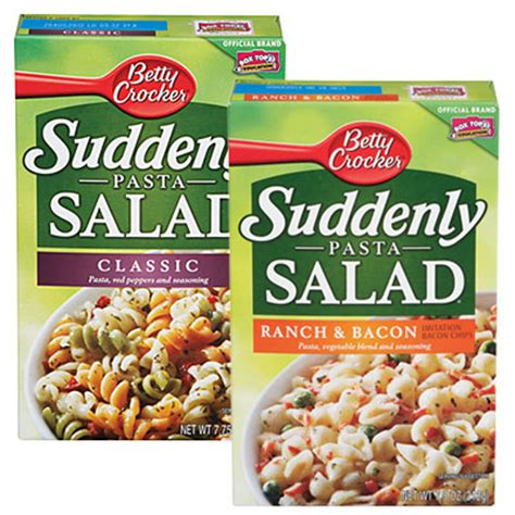 pasta salad box betty crocker 174 suddenly pasta salad 174 big lots