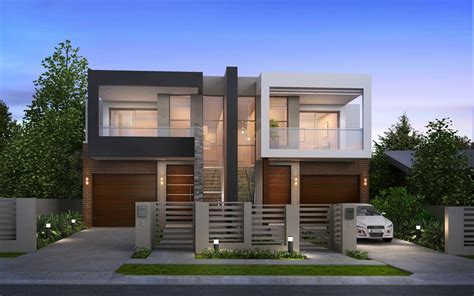 Modern Duplex Plans | luxury modern duplex house floor plans modern house design