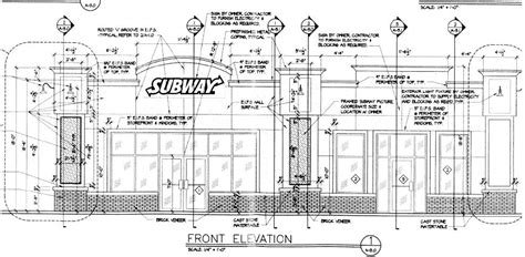 subway restaurant floor plan new project at 22nd and meridian