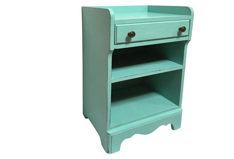 1950s Aqua Side Table W Drawer Omero Home Aqua Table