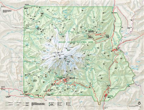 mt rainier national park map mount rainier national park map mount rainier national