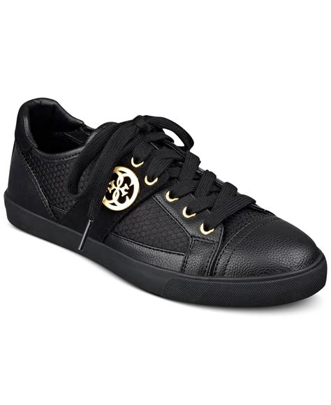 sneakers guess guess s macby lace up sneakers in black lyst