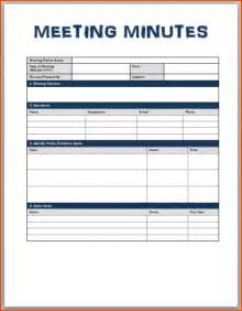 Meeting minute templates bookletemplate meeting minutes template