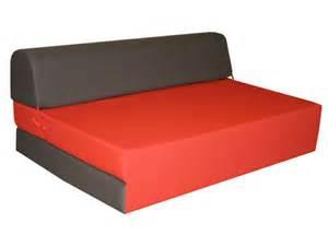 chauffeuse lit d appoint 2 places chappo coloris gris et