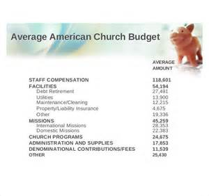 church expenses template church budget template 10 free word excel pdf