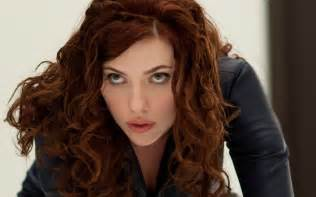 black widow hair color johansson wallpapers