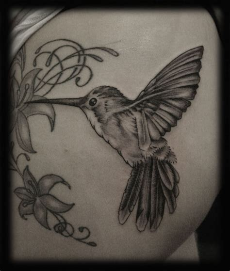 black and grey hummingbird tattoo black and grey hummingbird tattoo design tattoo ideas