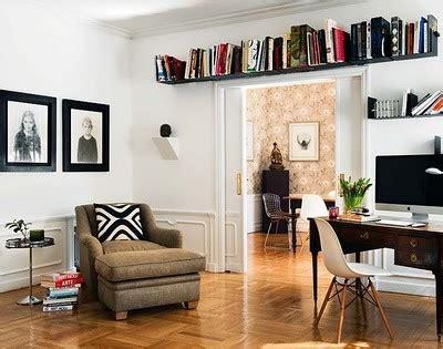 home office book shelves   window  door