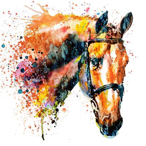 colorful horses colorful painting by marian voicu