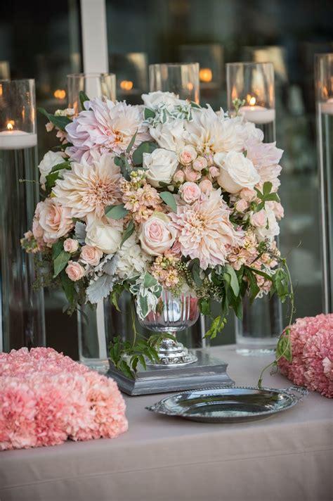 annenberg community beach house wedding peach  grey