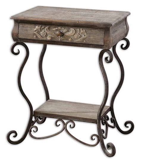 iron accent table uttermost 24210 vila nova iron accent table 327 80