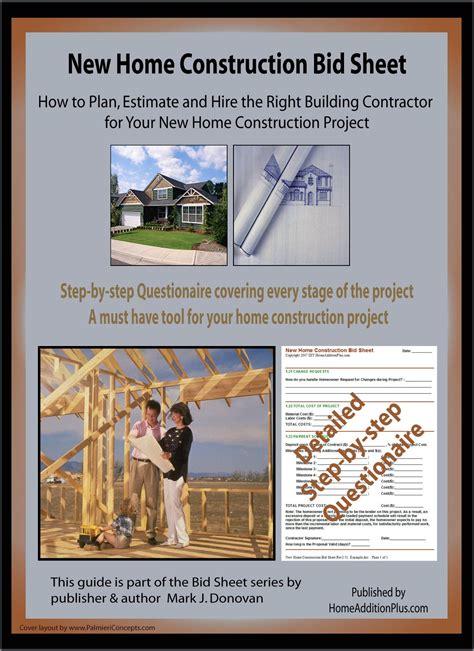 bid web here is a new home construction bid sheet for helping soon