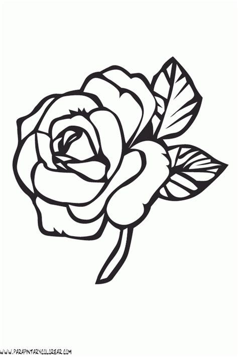 imagenes e flores para colorear free una rosa hermosa coloring pages