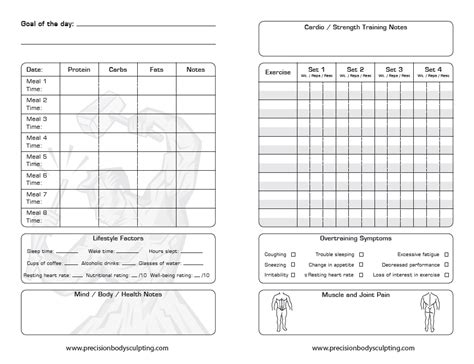 printable diary sheets 7 best images of printable diet log sheet free printable