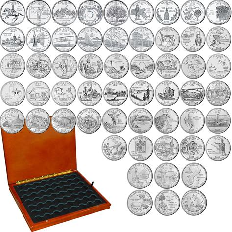 printable quarter collector uncirculated state quarters complete set the patriotic mint