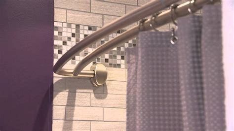 How High Do You Install A Curved Shower Curtain Rod