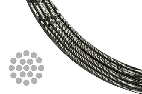 1 X 19 Stainless Steel Cable - stainless steel cable for cable railing systems 1 x 19