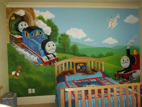 Thomas The Train Wall Mural fort mill mural photos in fort mill south carolina