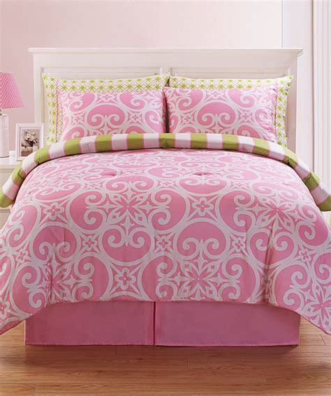 victoria classics pink kennedy comforter set