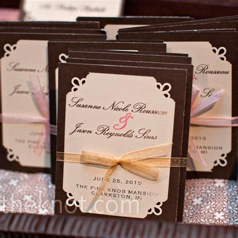 light pink and brown wedding invitations deciding colors pics included weddingbee