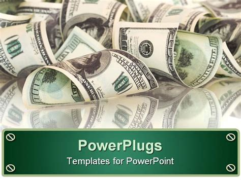 money powerpoint template powerpoint template collection of hundred dollar bills