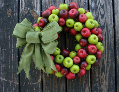 apple wreath green and red apple wreath christmas wreath