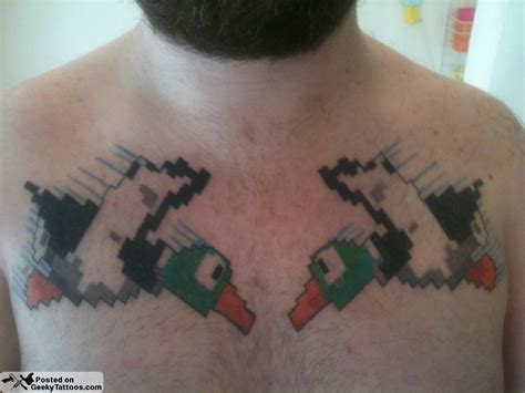 duck hunt tattoo geeky tattoos