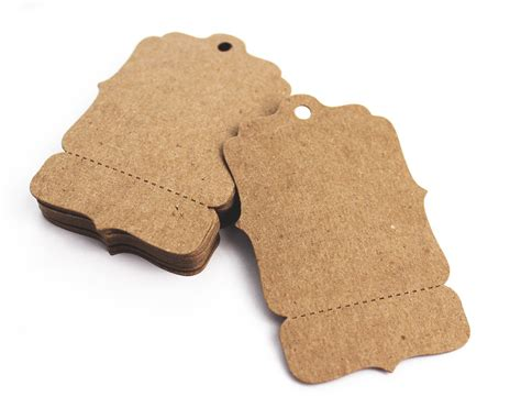 custom tags for 100 hang tags medium 2 x 3 perforated blank price