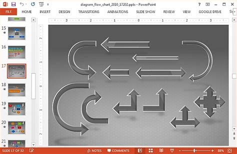 animated flowchart animated flow chart diagram powerpoint template