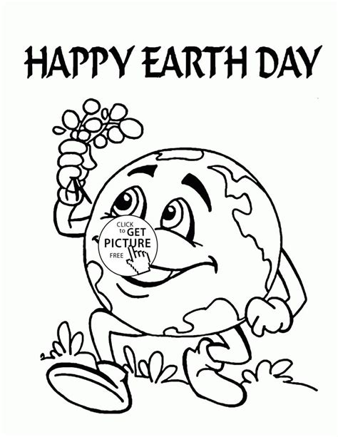 cute earth earth day coloring page  kids coloring