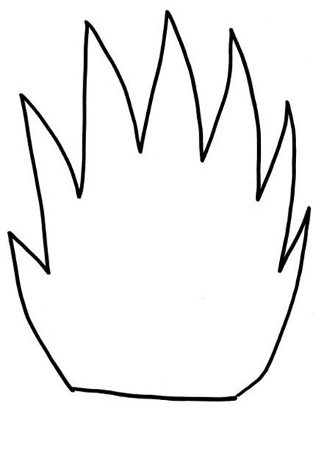 fire safety flame template for kids preschool
