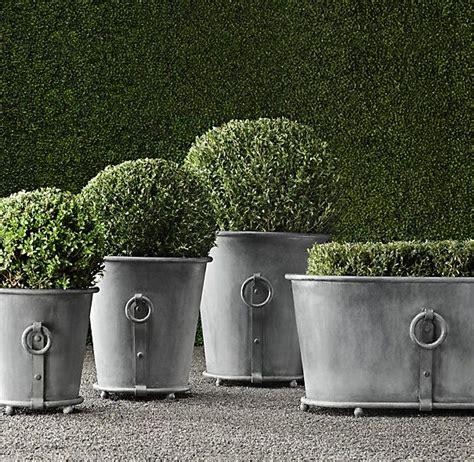 Zinc Planters by Estate Zinc Ring Planters Garden Ideas