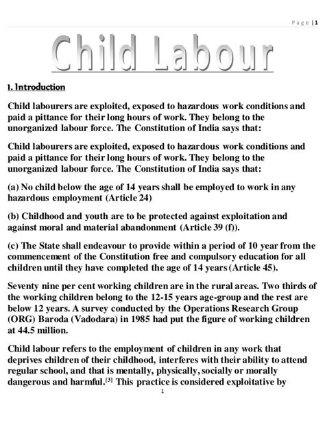 Essay On Child Labour by Essay On Child Labor Driverlayer Search Engine