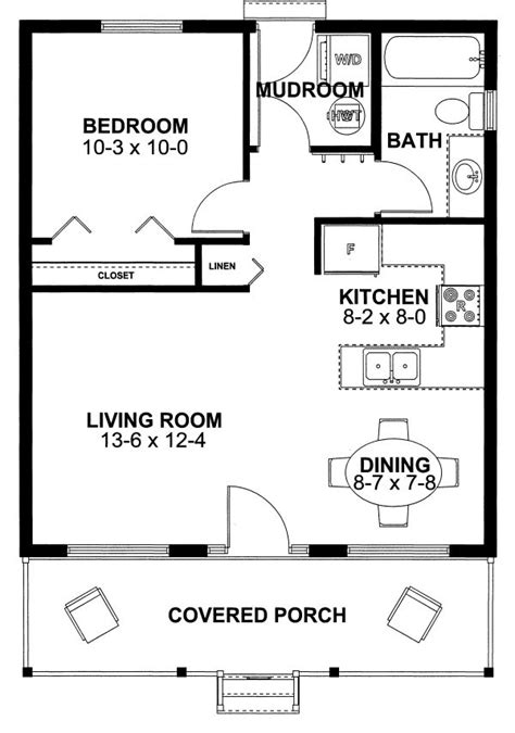 Best 25 1 Bedroom House Plans Ideas On Pinterest Small Small Small House Plans With Mud Rooms