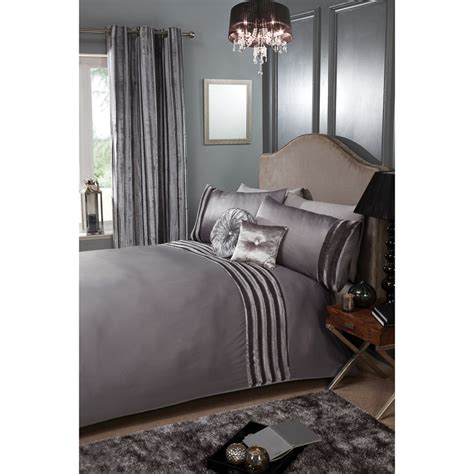 kendall satin stripe duvet set king duvet sets b m
