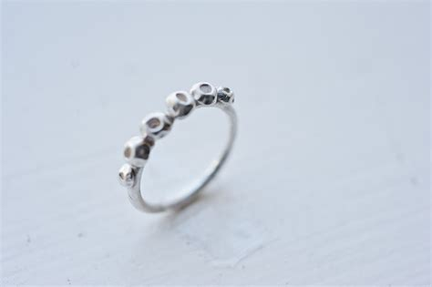 barnacles ring recycled silver promise ring handmade