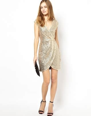 Asos Bring Us Another Style Gold Sequin Dress by Sequin Fashion In Toronto Vancouver Montreal And