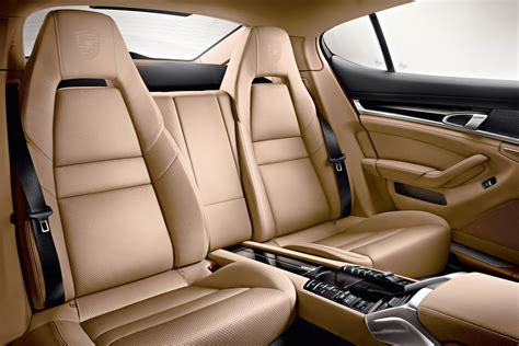 porsche panamera interior back seat new porsche panamera v6 platinum edition photos and