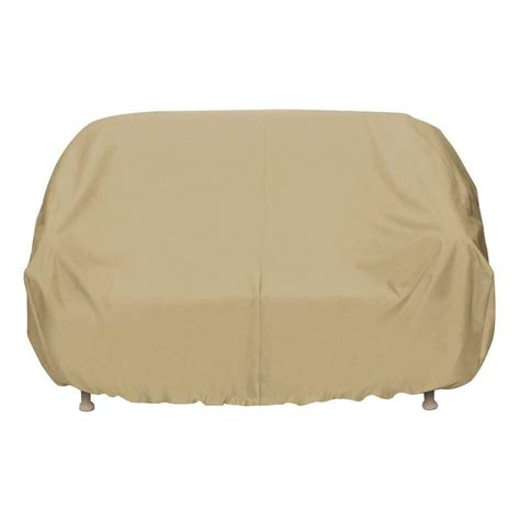 Oversized Sofa Covers by Two Dogs Designs 102 In Khaki Oversized Patio Sofa Cover