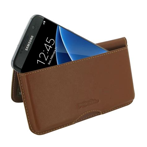 samsung galaxy pouch samsung galaxy s7 edge leather wallet pouch brown
