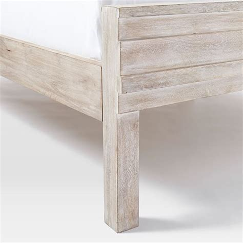 west elm stria bed stria bed cerused white west elm