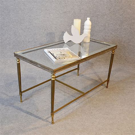 antiques atlas coffee table deco brass glass top