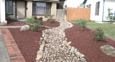 Rock Landscaping For Front Yard Outside Creations Free Garden Rocks