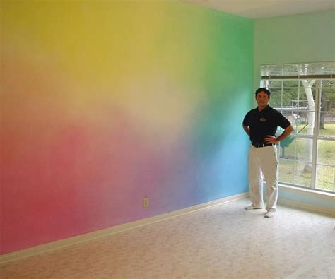 paints for walls in bedroom image result for rainbow painted wall technique kid s room pinterest paint