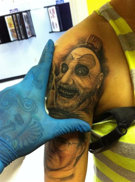 captain spaulding tattoo pin by on portraits