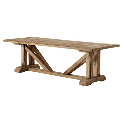 brown wood dining table eichholtz wymore rustic brown wood buttress trestle