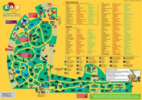 barcelona zoo map barcelona zoo