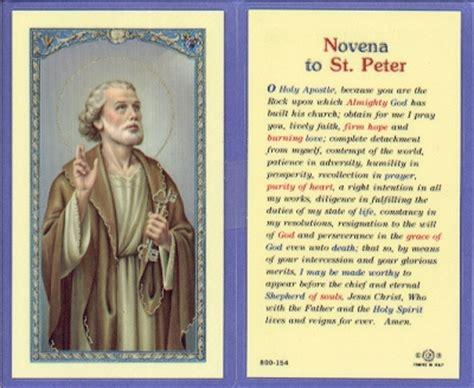 novena to buy a house st peter novena holy card