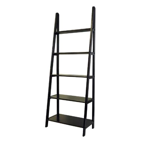 casual home 5 shelf ladder bookcase espresso look