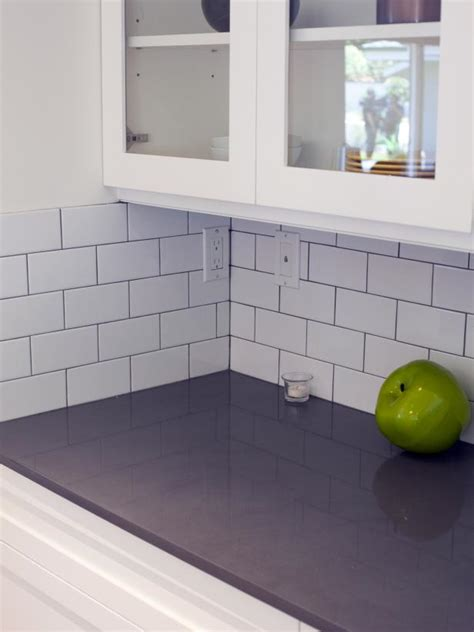 Modern Tile Countertops by Excellent Flip Modern White Subway Tile Backsplash Hgtv